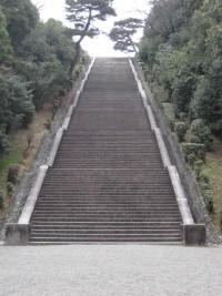 桃山御陵 階段
